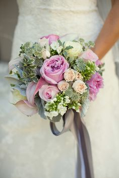 Mixed Rose Wedding Bouquet #wedding #bouquet #roses