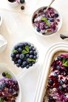 Blueberry-Coconut Baked Steel Cut Oatmeal: Vegan + Gluten Free  Healthy Breakfast, Brunch & Snack