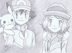 from XYZ Episode 29 ©Satoshi Tajiri/Nintendo Serena x Satoshi - Harmony Old Pokemon, Pokemon Ships, Pokemon Ash Ketchum, Gym Badges, Pokemon Waifu, Pokemon Ash And Serena, Satoshi Tajiri, Ashes Love, Pokemon Movies