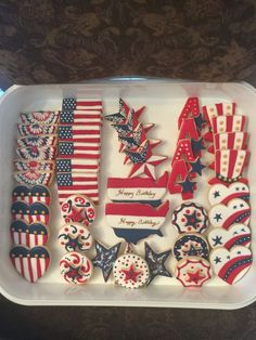 Fourth of july fourthofjuly&more выпечка, пряник, кулинария. Summer Cookies, Fancy Cookies, Cut Out Cookies, Iced Cookies, Cute Cookies, Royal Icing Cookies, Holiday Cookies, Patriotic Desserts, 4th Of July Desserts
