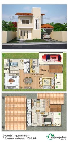 LxW = x or if the cars move to patio front but Dream House Plans, Modern House Plans, House Floor Plans, Dream Home Design, Small House Design, My Dream Home, Building Design, Building A House, House Map