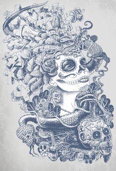 Do of the Dead by Jorge Garza, via Behance