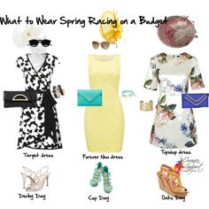 Spring racing on a budget by imogenl on Polyvore featuring мода, Topshop, Forever New, Missoni, Caparros, Steve Madden, ALDO, Urban Originals, Dasein and Shyla