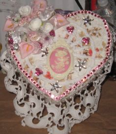shabby chic chocolate box by Diane Stringer