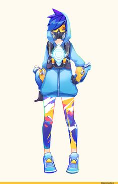 Tracer,Overwatch,Blizzard,Blizzard Entertainment,фэндомы,Fuzzy,Overwatch art Tracer Overwatch, Overwatch Comic, Character Costumes, Game Character, Character Design, Character Ideas, Tracer Cosplay, Tracer Fanart, Overwatch Females
