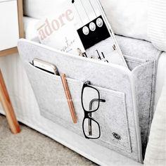 Best bedroom organiser - bedside caddy bed pocket – MYLE