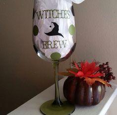 Halloween wine glass 2