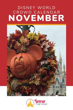 Planning to visit Disney World in November? Check out our FREE NovemberCrowd Calendar for help finding the least crowded parks for each day of your trip.