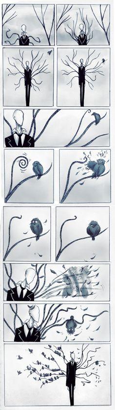 Slender and a bird. by Paradoxoid.deviantart.com on @deviantART