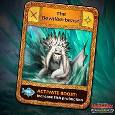 Dragons: Rise of Berk - The Bewilderbeast card