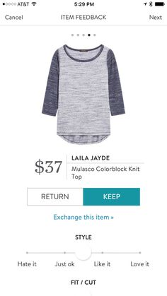 Laila Jayde Mulasco Colorblock Knit - blue navy - Stitch Fix 2016