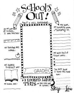 End of School Memory Printable | Skip To My Lou | Bloglovin'