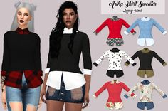 Sims 4 CC's - The Best: Arika Shirt Sweater by Lumy Sims