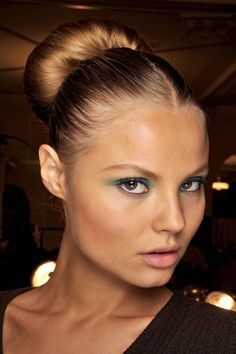 big bun, and gorgeous make up