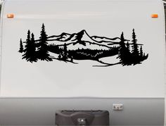 Lake Trees Mountains RV Camper Vinyl Decal Sticker Graphic