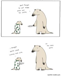 No matter which holiday you celebrate, we hope you enjoy the treats! exclusive comic for the fluffington post by lizclimo   UC Irvine Anteaters