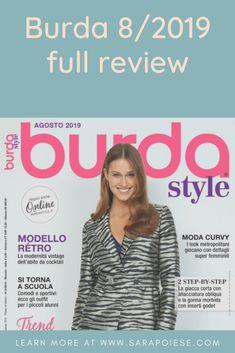 Sfogliamo Burda Style agosto 2019 in sartoria con Sara Poiese