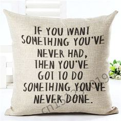Letter Sofa Cushion Soft Pillow Cotton Linen Square