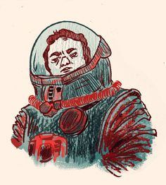 Spacemans by Nuria Tamarit, via Behance