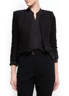 Mango Women`s Cropped Boucl Jacket - Isabella $89.99