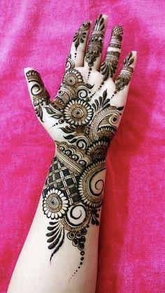 Mehndi Designs Front Hand, Khafif Mehndi Design, Simple Arabic Mehndi Designs, Latest Bridal Mehndi Designs, Full Hand Mehndi Designs, Mehndi Designs Book, Mehndi Design Photos, Wedding Mehndi Designs, Latest Mehndi Designs