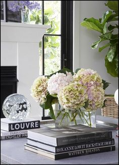 simple vignette for a coffee table