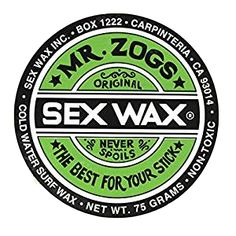 Zogs Original Sexwax - Cool Water Temperature Coconut Scented (White) Ideal  for base or top coat Iconic American Brand Used for surfing 93d6365d59a