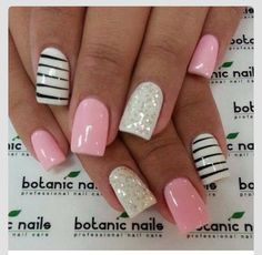 Simple pink nails