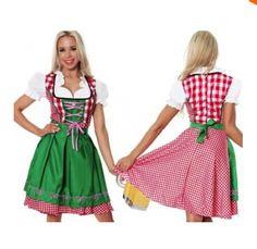 LIVRAISON GRATUITE Mesdames Oktoberfest Bière Bavaroise de Ménage Jeune Fille Allemande Heidi Fantaisie Robe Costume