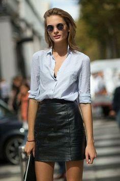 Hoeveel rokken heeft een vrouwelijke minimalist nodig? (minimalisme, rok, leren rokje)