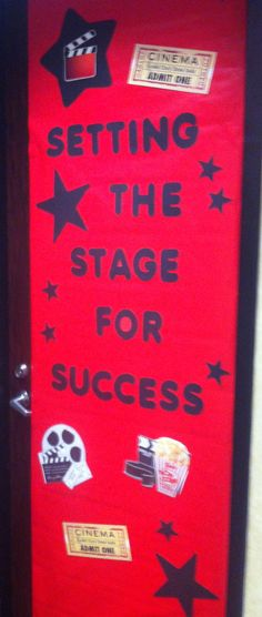 Therapist Appreciation Week aka Teacher Appreciation Week… At Mcrory Pediatrics Preschool… Classroom Door Decorations… Hollywood Theme… - Site Today New Classroom, Classroom Themes, Preschool Classroom, Movie Classroom, Classroom Door Displays, Teaching Themes, School Displays, Classroom Environment, Classroom Design