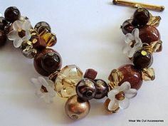 www.WearMeOutAccessories.com PLEASE OPEN! ***Materials*** Beads in at least 3 or 4 sizes and colors (12mm-4mm) 1 strand of each size I Used: 2 crystal clear ...