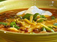 5-Bean Chili - Emeril Lagasse (foodnetwork)  DELISH - not heavy like some chili.  My changes:  •     Substitute 3/4 pound lean ground sirloin, 1/2 package jimmy dean hot sausage for the meat  •     Add 1 - 4 oz can diced green chilies