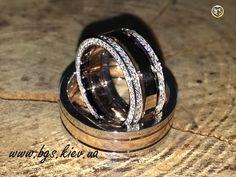 Потрясающей красоты обручальные кольца из комбинированного золота (белое и красное) под заказ в ювелирной мастерской Best Gold Service необычные обручальные кольца http://bgs.kiev.ua/1kz
