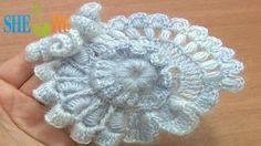 Crochet Freeform Flower Tutorial 2 Part 2 of 2 Scrumbling Freeform Crochet
