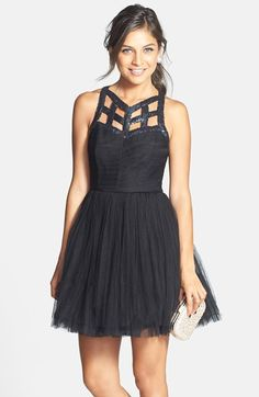 a. drea Sequin Cutout Fit & Flare Dress (Juniors) available at #Nordstrom