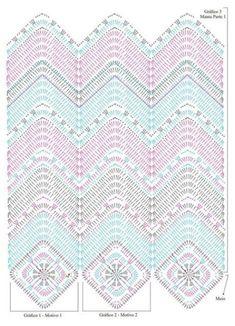 Soft Rope Tote Bag pattern by Andrea Marton Zig Zag Crochet, Plaid Au Crochet, Crochet Pillow Pattern, Crochet Ripple, Crochet Bedspread, Crochet Motifs, Crochet Diagram, Crochet Stitches Patterns, Crochet Chart