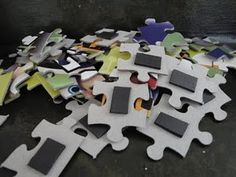 Magnetic Puzzles for car trips -- use those thin magnets that come on phone books each year. Be sure to have a small baking sheet that has sides for the trip.
