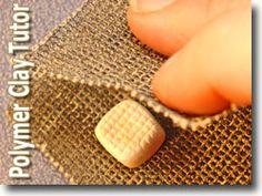 Addició d'textura una des Polimer d'Argila bols