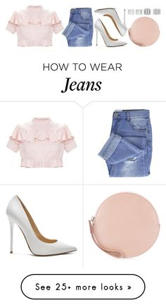 """""""Untitled #1373"""" by asoul4 on Polyvore featuring Taya, Jimmy Choo, Jil Sander, Maison Margiela, ootd, valentinesday and 2018"""