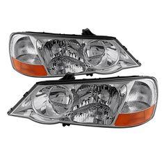 2002-2003 Acura TL HID Xenon Headlights Replacement 02-03 Headlamps Left+Right 33151S0KA12, 33101S0KA12,AC2518102, AC2519102, Silver
