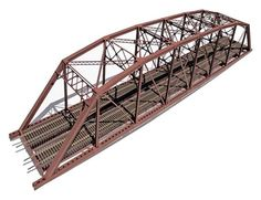 Central Valley Model Works 200 Double Track Truss Bridge Kit, HO Scale
