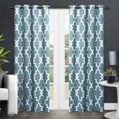 Add a modern, elegant look to any room with these Ironwork blackout thermal window curtain panels. With a geometric design and visually clean lines, these panels add a contemporary look to your home.