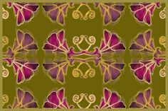 arts and crafts movement, art nouveau, complimentary colours...  Just lovely