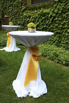 Chair Ties Are One Way To Cinch A Linen On A Cocktail Table Chair - Cocktail table linens
