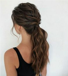 Bewitching Brunette Ombre Hair Ideas Guide) The UnderCut - Haare Stylen Formal Hairstyles, Pretty Hairstyles, Braided Hairstyles, Wedding Hairstyles, Hairstyle Ideas, Prom Hairstyles For Long Hair, Anime Hairstyles, Bridesmaid Hairstyles, Black Hairstyles