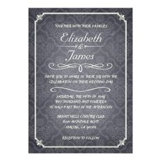 ShoppingBlack Damask Vintage Chalkboard Wedding Invitation Custom Invitewe are given they also recommend where is the best to buy