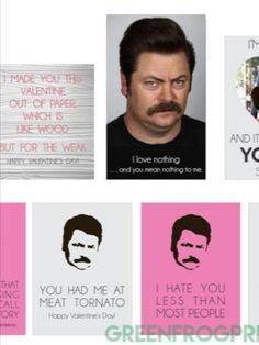 Ron Swanson Parks & Rec Valentine Gift Ideas For The Manly Man In Your Life. High Quality Art Prints We have several high quality art prints perfect for the man in your life. Parks and Recreation Fans