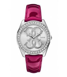 GUESS Womens Dazzling Iconic Logo SilverTone Watch * Check out the image by visiting the link. Brand Name Watches, Sport Watches, Guess Watches, Guess Handbags, Seiko Watches, Wrist Watches, Stylish Watches, Fashion Watches, Hugo Boss