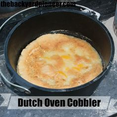 Dutch Oven Peach Cobbler We adore our Dutch oven recipes and who doesn't like cobbler?